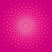Pink Circular Background With Polka Dots
