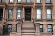 Harlem New York brownstone buildings