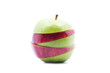 Soft Focus Of Multiple Type Of Apples Over White Background