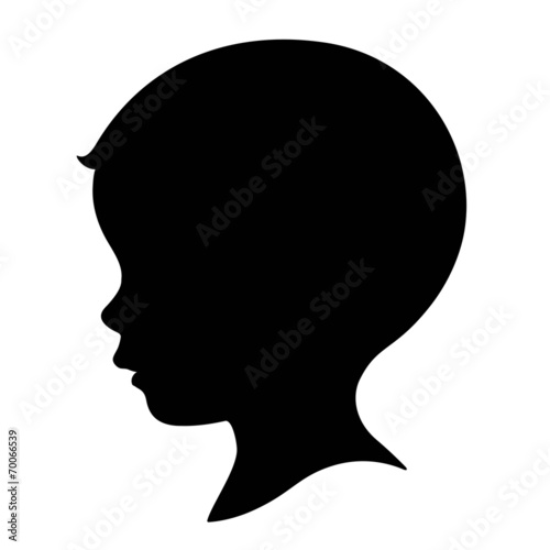 Juliste  kid, boy head silhouette