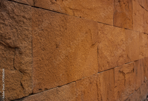 Background of stone wall made with blocks,Shooting angle in obli