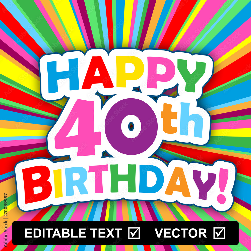 HAPPY BIRTHDAY Card Editable Text Vector Insert Your Own Foto Poster Wandbilder Bei EuroPosters