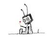 Roboter mit Blume