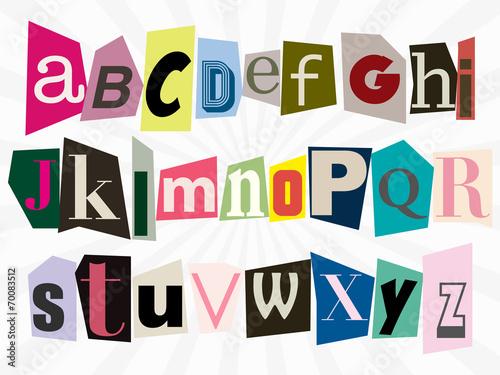 alphabet anonyme Canvas Print