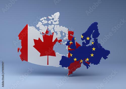 Fotografie, Obraz  Canada-EU blue