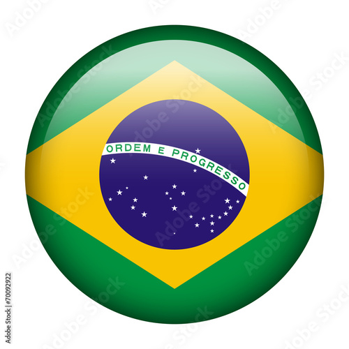 Foto  Brazil flag button