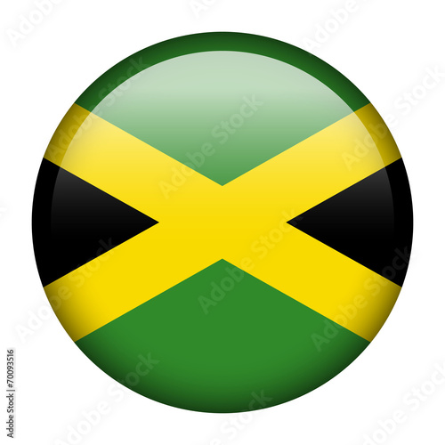 Photo  Jamaica flag button