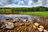 Fototapeta Krajobraz - Norwegia , krajobraz wiejski