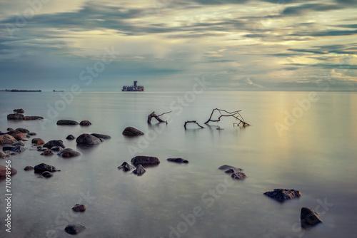 Fotobehang - Morze Bałtyckie o poranku