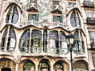 Panel Szklany BARCELONA, SPAIN - MAY 24: Casa Batllo Facade. The famous buildi