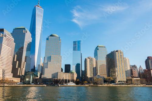 Panorama of downtown Manhattan Poster