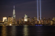 Tribute in Light at lower Manhattan