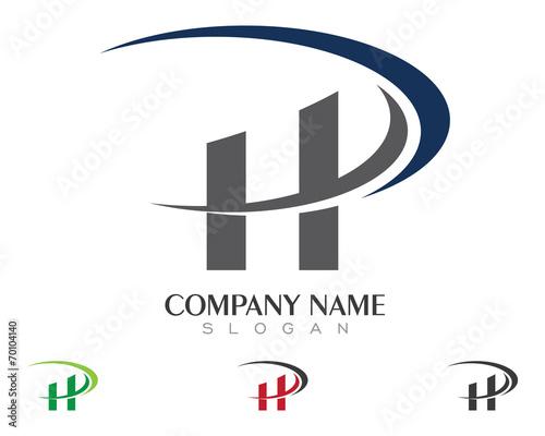 HD HP H P Logo Template 1