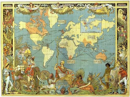 Tuinposter Wereldkaart World