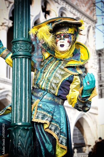 Fotobehang Imagination Venice carnival mask