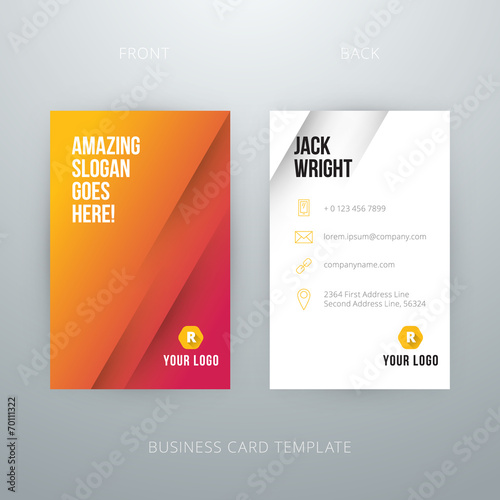 Modern simple business card template buy this stock vector and modern simple business card template colourmoves