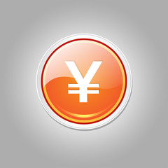 FototapetaYen Currency Sign Circular Vector Orange Web Icon Button