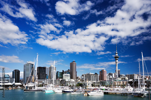 Photo Auckland, North Island, New Zealand skyline