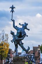 イギリス ストラトフォード・アポン・エイボンの道化師像