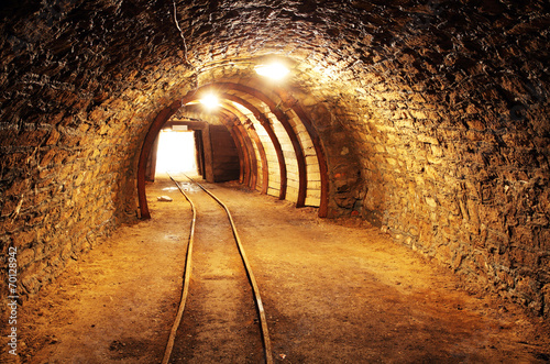 Foto op Aluminium Rudnes Underground mine tunnel, mining industry