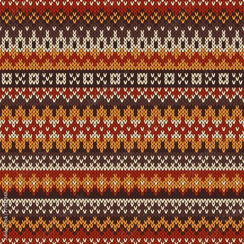 Valokuvatapetti Knitted seamless pattern in Fair Isle style