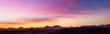 canvas print picture - Tramonto rosa sul deserto
