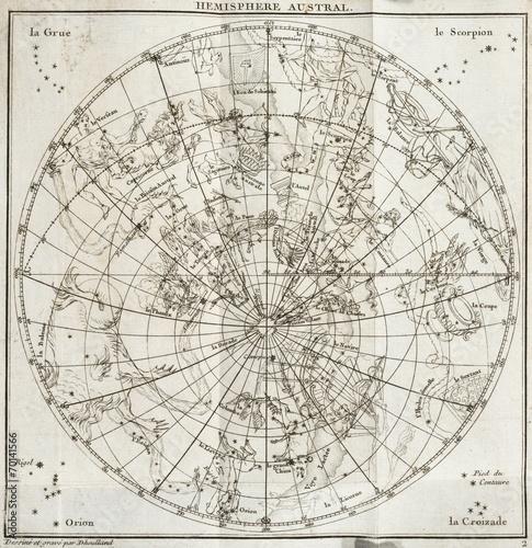Zdjęcie XXL stara mapa nieba