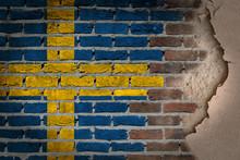 Dark Brick Wall With Plaster - Sweden