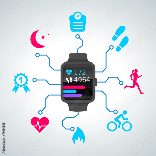 Fotografía  montre connectée - smart watch - sport - 2014_09 - 2