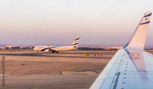 Fototapeta El Al airplane obraz na płótnie