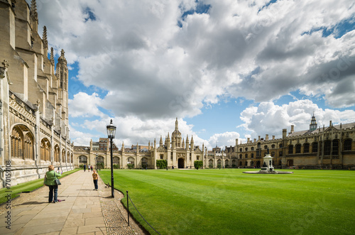 Stampa su Tela King's Collage - Cambridge