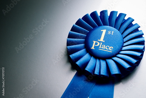 Photo Blue first place winner rosette