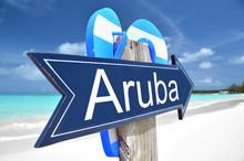 Aruba Arrow On The Beach