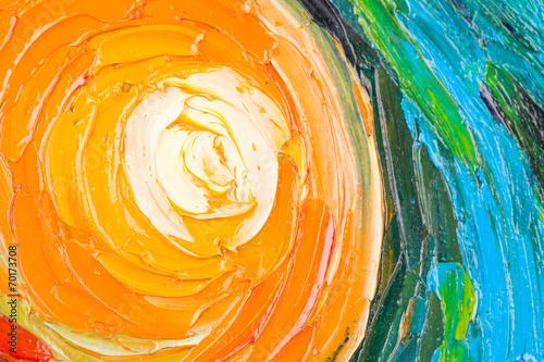 Plakat Malarstwo abstrakcyjne koła.