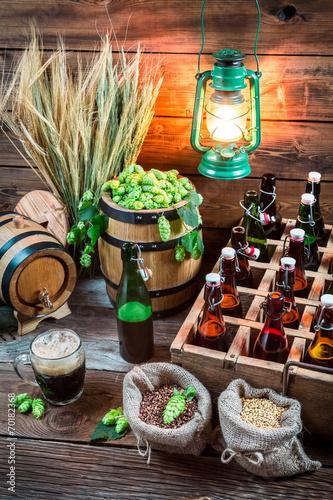 Fototapety, obrazy: Cellar full of ingredients for homemade beer