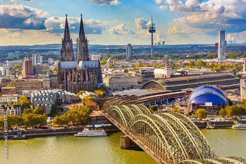 Fotografía  Aerial view of Cologne