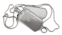 Military Dog Tags On White Background