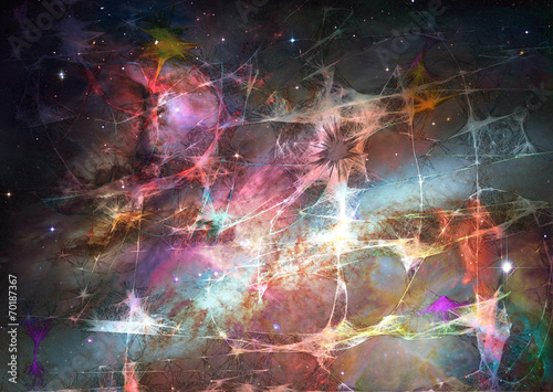 Fotografie, Tablou  weblike space abstract