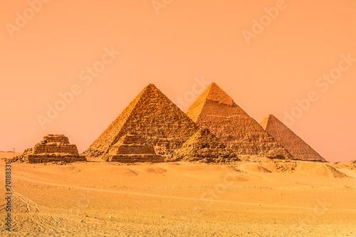 fototapeta na szkło Piramidy w Gizie, Kair, Egipt.