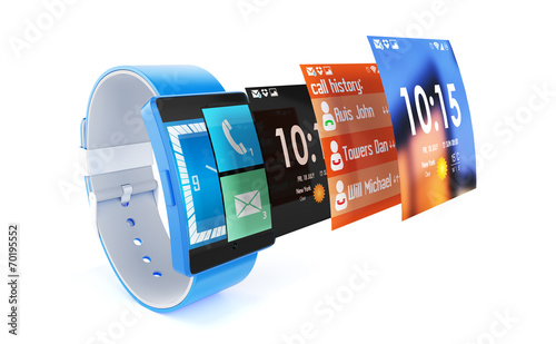 Fototapety, obrazy: 3d render of smart watch isolated on white background