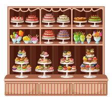 Store Of Sweets And Bakery. Ve...