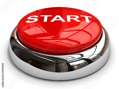 Poster  Red start button concept