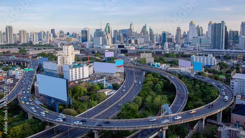 Aerial view of Bangkok Express ways, Thailand Wallpaper Mural