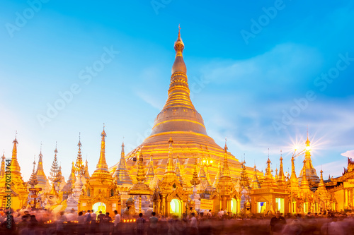 Shwedagon pagoda in Yagon, Myanmar Wallpaper Mural