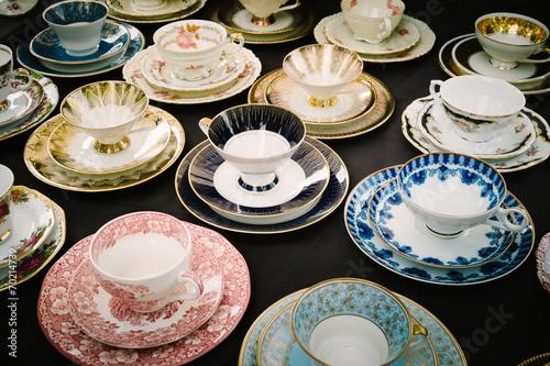 Fotografie, Obraz  Old tea cups