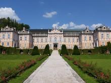 Full Front View Of Rococo Castle Nove Hrady, Czech Republic