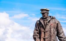 Statue Of Sir David Stirling In Scotland