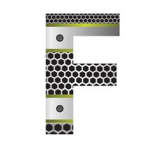 Perforated Metal Letter F