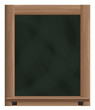 empty vertical blackboard frame object