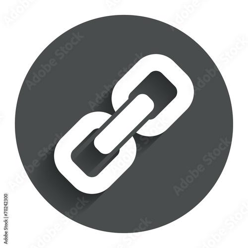 Fotografia  Link sign icon. Hyperlink symbol.